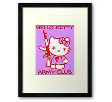 Hello Kitty Army Club Framed Print