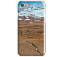 Snowy mountains. crack from an earthquake. Russia, Siberia, Altai mountains iPhone Case/Skin