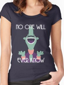 NO ONE WILL EVER KNOW Women's Fitted Scoop T-Shirt