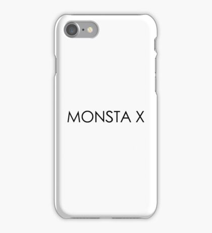Monsta X The Clan Logo/Font iPhone Case/Skin