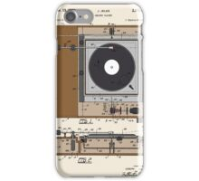 Record Player Patent - Color iPhone Case/Skin