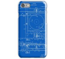 Record Player Patent - Blueprint iPhone Case/Skin