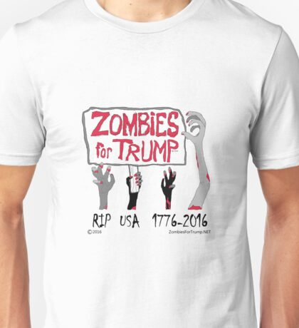 Zombies For Trump 4Arms Unisex T-Shirt