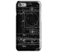 Record Player Patent - Black iPhone Case/Skin