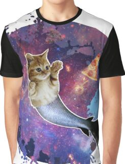 Space Purrmaid Graphic T-Shirt