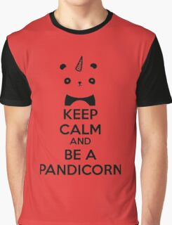 Keep Calm And Be A PandiCorn Graphic T-Shirt