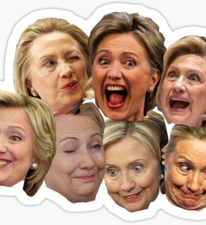 Hillary Clinton in DA HOUSE Sticker