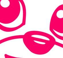 face head girl woman girl pink female sweet little comic cartoon teddy bear baby Sticker