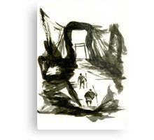 Sumi-E Painting - Gate Metal Print