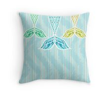 Mermaids and Stripes Throw Pillow