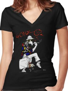 Gonzo- Fear and Loathing in Las Vegas parody Women's Fitted V-Neck T-Shirt