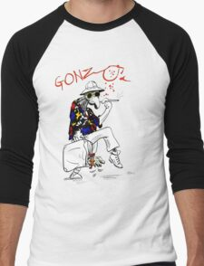 Gonzo- Fear and Loathing in Las Vegas parody Men's Baseball ¾ T-Shirt