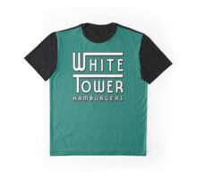 White Tower Hamburger Logo Graphic T-Shirt