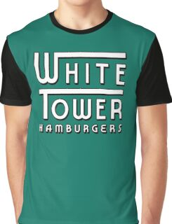 White Tower Hamburger Logo Graphic T-Shirt