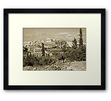 Athenian Acropolis from Philopappou Hill, 1960, Gold-toned Framed Print