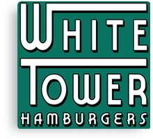 White Tower Hamburger Logo Canvas Print
