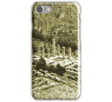 Temple of Apollo and Theatre, Delphi 1960, Yellow-toned iPhone Case/Skin