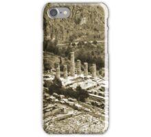 Temple of Apollo and Theatre, Delphi 1960, Gold-toned iPhone Case/Skin