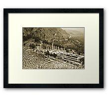 Temple of Apollo and Theatre, Delphi 1960, Gold-toned Framed Print
