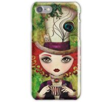 Lady Hatter (w/background) iPhone Case/Skin