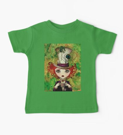 Lady Hatter (w/background) Baby Tee