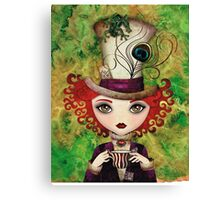 Lady Hatter (w/background) Canvas Print