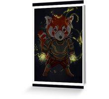 Magical Red Panda Greeting Card