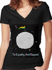 To Equality and Beyond Women's Fitted V-Neck T-Shirt