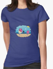 PiGgy on Vacation! Womens Fitted T-Shirt