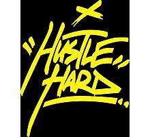 Hustle Hard - Warriors Gold Photographic Print