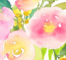 Floral Watercolor, Spring Bouquet Sticker
