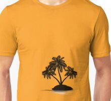 Palm Tree on Island Silhouette 4 Unisex T-Shirt