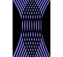 Purple and Black Crazy Stripes Photographic Print