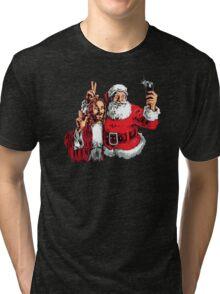 Jesus Santa Selfie Tri-blend T-Shirt