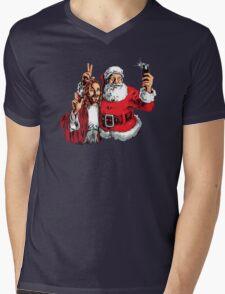 Jesus Santa Selfie Mens V-Neck T-Shirt