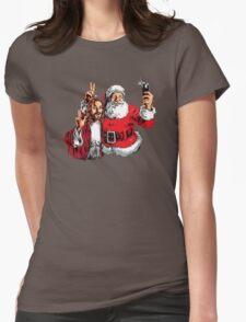 Jesus Santa Selfie Womens T-Shirt