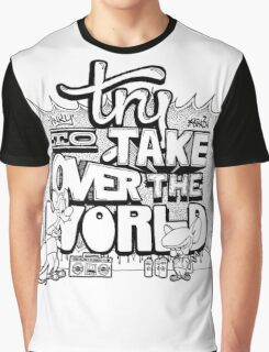 Pinky & Brain Try To take Over The World Graphic T-Shirt