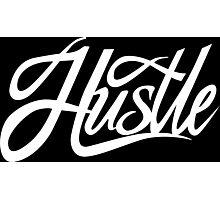 Hustle Torn - White Photographic Print
