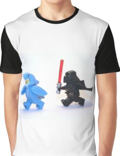 Lego Star Wars Darth Vader and Shark Suit Guy Pursuit Minifigure Graphic T-Shirt
