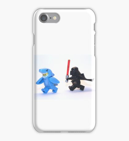 Lego Star Wars Darth Vader and Shark Suit Guy Pursuit Minifigure iPhone Case/Skin