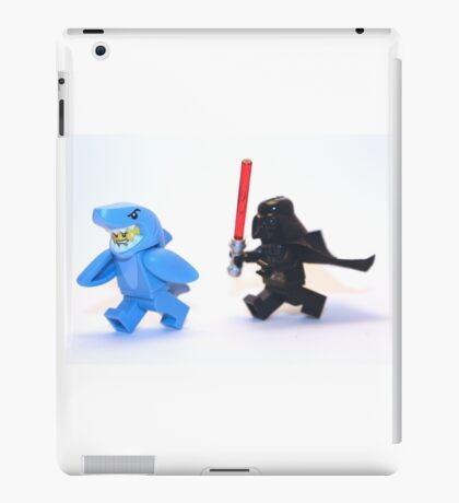 Lego Star Wars Darth Vader and Shark Suit Guy Pursuit Minifigure iPad Case/Skin