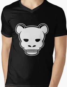 YG Bear Skull Black Mens V-Neck T-Shirt