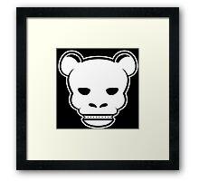 YG Bear Skull Black Framed Print