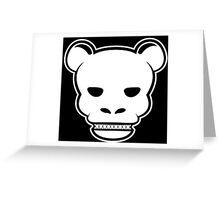 YG Bear Skull Black Greeting Card
