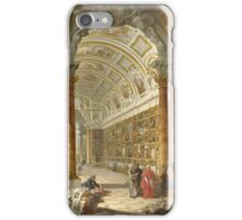 Vintage famous art - Giovanni Paolo Panini - Interior Of A Picture Gallery With The Collection Of Cardinal Silvio Valenti Gonzaga iPhone Case/Skin