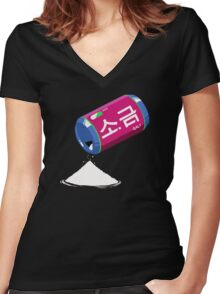 D.va´s Salt  Women's Fitted V-Neck T-Shirt