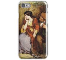 Vintage famous art - George Smith - Moment Of Suspense iPhone Case/Skin