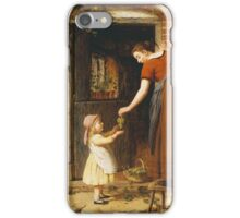 Vintage famous art - George Smith - Gathering The Grapes iPhone Case/Skin