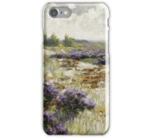 Vintage famous art - George Hitchcock - Field Of Heather iPhone Case/Skin
