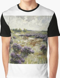 Vintage famous art - George Hitchcock - Field Of Heather Graphic T-Shirt